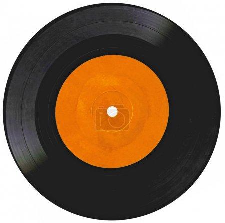 Photo pour Disque vinyle vintage isolé sur blanc - image libre de droit