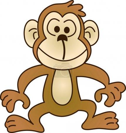Illustration pour Drôle de singe. Illustration vectorielle. Changement de couleur entièrement modifiable et facile . - image libre de droit