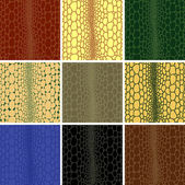 Seamless pattern of crocodile leather