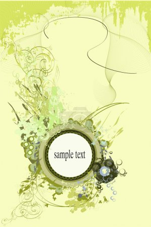 Photo for Backgrounds on abstract and grunge elements with ornament shapes. - Royalty Free Image