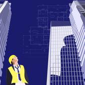 Plán domu a mrakodrap