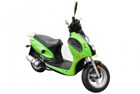 Photo for Green scooter motorcycle isolated - Royalty Free Image