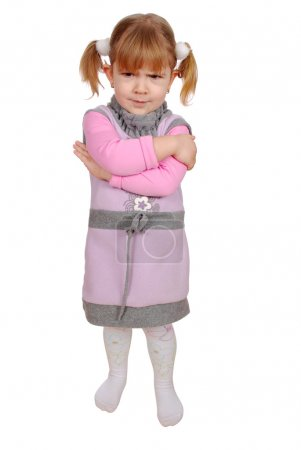 Photo for Angry little girl - Royalty Free Image