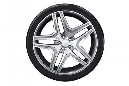 Car wheel with aluminum rim