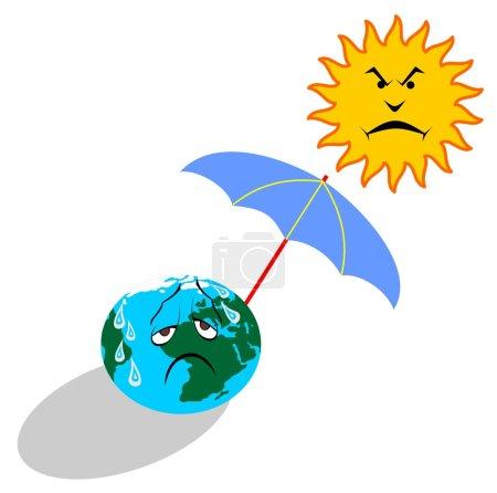 Illustration for Global warming vector illustration - Royalty Free Image
