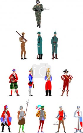 Soldier uniform through history