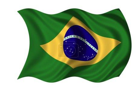 Photo pour National drapeau Brésil - image libre de droit