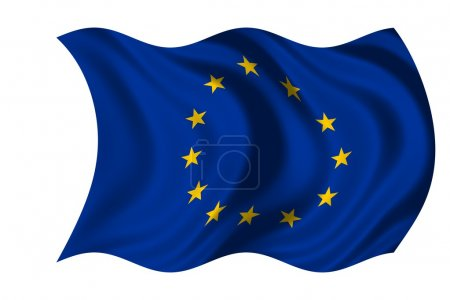 Waving flag European Union