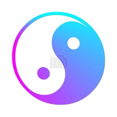 Colorful ying and yang symbol