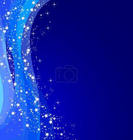 Foto de Ilustración de fondo azul con estrellas de Navidad - Imagen libre de derechos