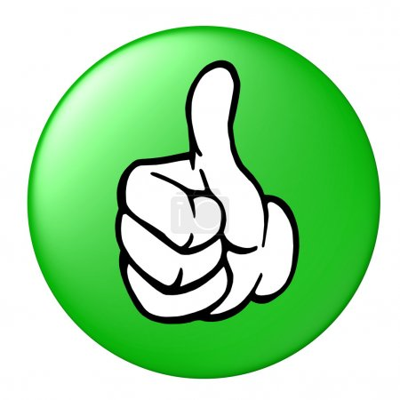 Photo for Thumbs up button - Royalty Free Image