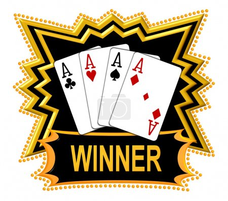 Quad Aces are the Winner