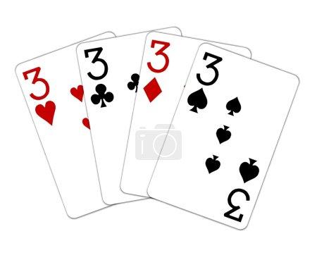 Photo pour Quads main poker - image libre de droit