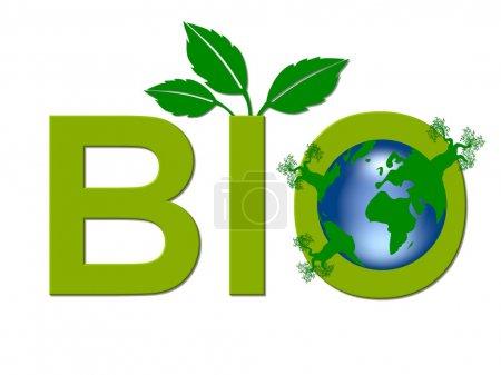 Photo pour Logo BIO Worldwide isolé - image libre de droit