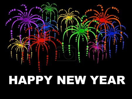 Happy new year background with fireworks
