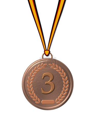 Sports medal bronze