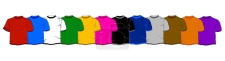 Photo pour T-shirts isolés - image libre de droit