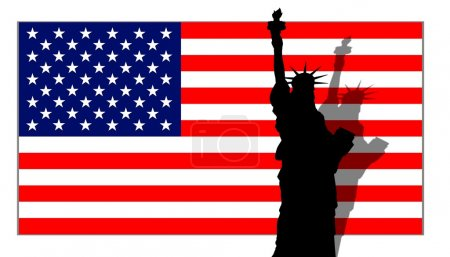 Stars & Stripes Banner Lady Liberty
