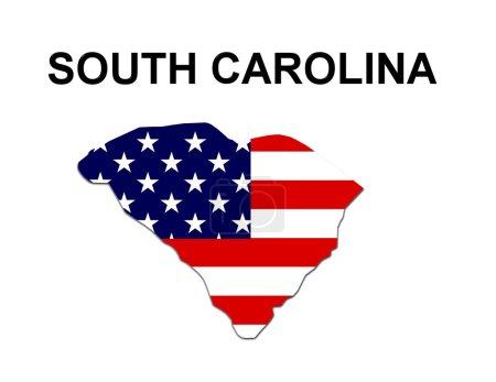 USA State Map South Carolina