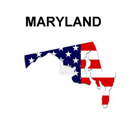 USA State Map Maryland