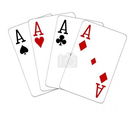 Poker Hand Quad Aces