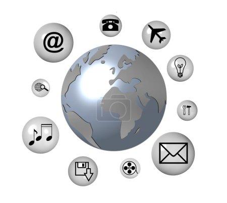 Photo pour Communication globale - image libre de droit