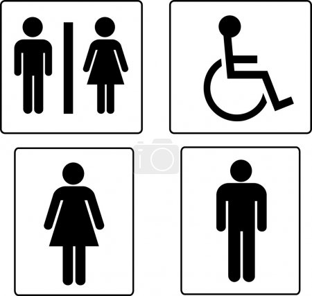 Set of restroom symbols...