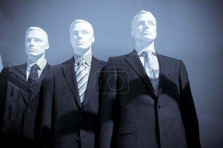 Men dummies in suits