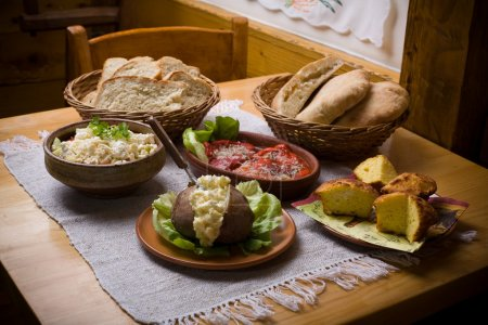 Photo for Traditional balkan food on table. Healthy eating concept - Royalty Free Image