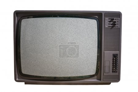 Photo for Old TV with noise on screen. Television and mass media concept. - Royalty Free Image