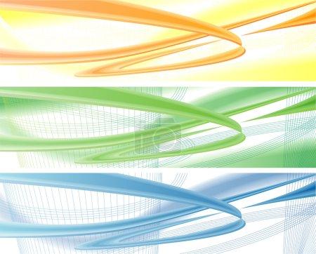Illustration pour Bleu, jaune, orange moderne, milieux dynamiques - image libre de droit