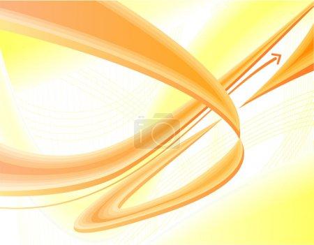 Illustration pour Jaune et orange moderne, fond dynamique - image libre de droit