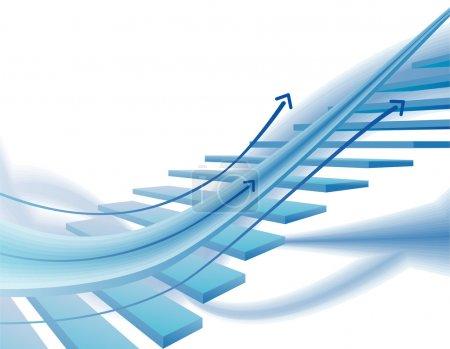 Illustration pour Blanc et bleu, moderne, fond dynamique - image libre de droit