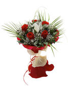 Colorful festive bouquet isolated