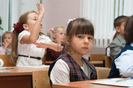 The sad schoolgirl