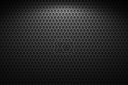 Photo for Metal wire mesh, black and gray - Royalty Free Image