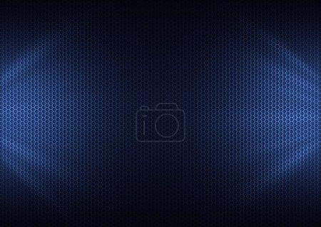 Photo pour Plaque de métal bleu & rayon lumineux - image libre de droit