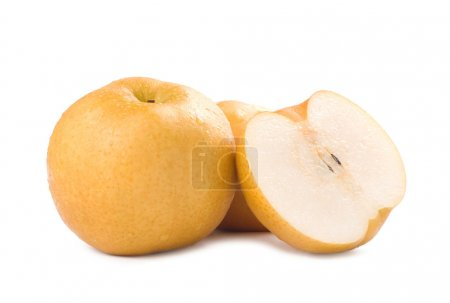 Photo for Japanese pear, popular fruit in asia - Royalty Free Image