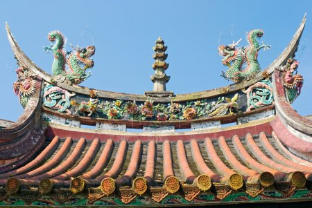 Photo for Chinese temple decorate, Taiwan, East Asia - Royalty Free Image