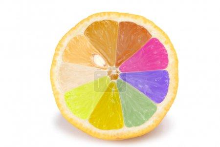 isolierte bunte orangefarbene Früchte