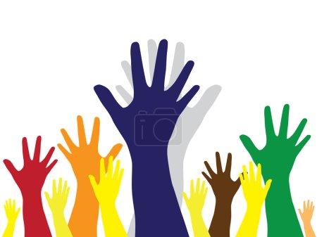 Hands symbol of diversity