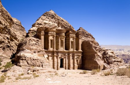 The Monastery in ancient city of Petra, Jordan...