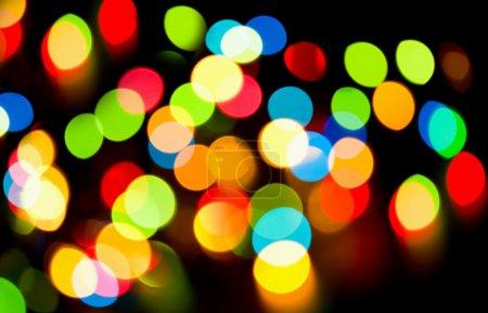 Multicolored holiday lights
