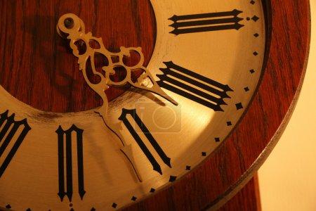 Antique clock close-up