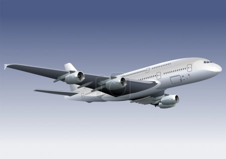Vector Double-deck A380 Lagest Jetliner