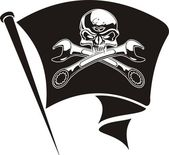 Vector moto-Jolly Roger flag