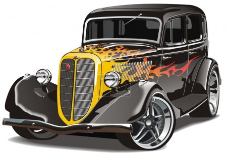 Vector illustration  GAZ-M1 hotrod