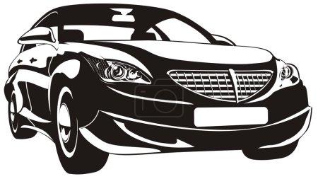 Illustration pour La voiture moderne abstraite n'est associée à aucune marque. Parfait pour la publicité automobile accessoires automobiles . - image libre de droit