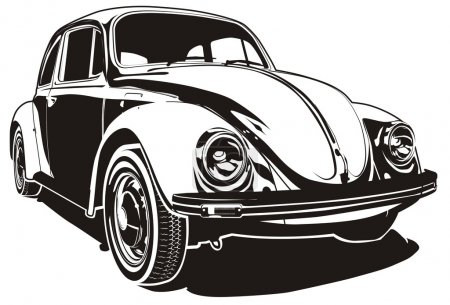Illustration pour Illustration vectorielle VW Bug - image libre de droit