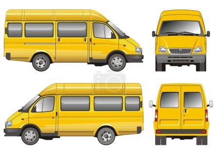 Yellow mini bus